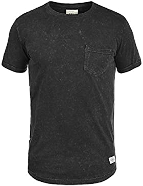 REDEFINED REBEL Myles Herren T-Shirt Acid-Washed mit Brusttasche