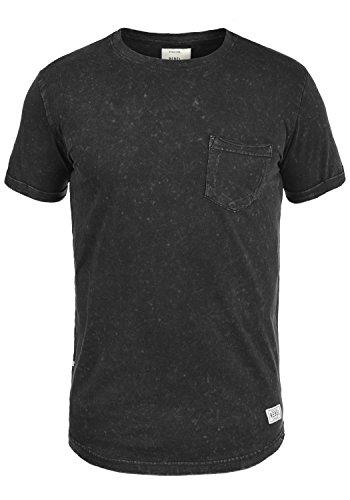 Redefined Rebel Myles Herren T-Shirt Kurzarm Shirt Rundhalsausschnitt Brusttasche Aus 100% Baumwolle, Größe:XL, Farbe:Black (Jersey Einfach Fit V-neck Tee)