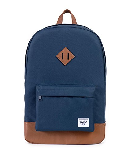 Herschel 10007-00007 Heritage Backpack Rucksack, 1 Liter,Navy/Tan