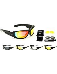d3d68a23fe Nueva Daisy c6 Estilo militar Gafas deportivas tácticas Gafas al aire libre Gafas  4 lentes Gafas de sol Pescar…