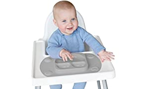 EasyMat Mini Portable Baby Suction Plate (Grey)