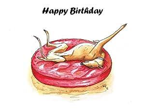 Carte d'anniversaire fête Lévrier Greyhound/Lurcher/italien pour chien–Texte sur mesure