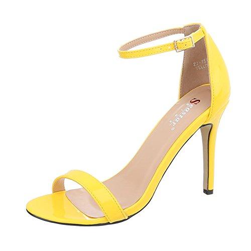 Scarpe da Donna Sandali Tacco a Spillo Sandali col Tacco Giallo Taglia 36
