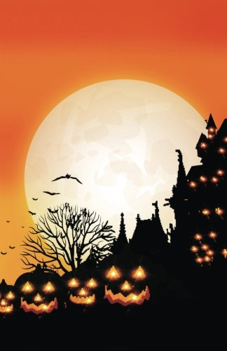 Journal: Halloween Haunted House with Jack O'Lanterns: Lined Journal, 110 Pages, 5.5 x 8.5, Halloween, Haunted House, Orange Background, Full Moon, ... Matte Finish (Halloween Journals, Band 8) (Orange Moon Halloween)