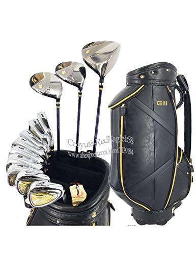 HDPP Golfschläger Herren Golfschläger Komplettes Schlägerset Golf Driver Holz Eisen Putter Graphite Oder Steel Golf Schaft Und TascheClubs Golf Full Set (Junior Golfschläger Graphit)