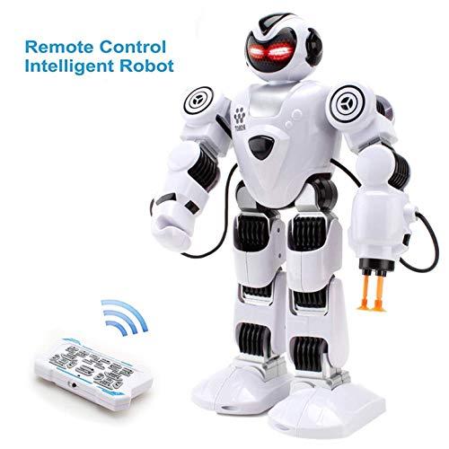 HANMUN Remote Kids Control Roboter-Spielzeug - Roboter Intelligentes Lernspielzeug Kinder Intelligentes Humanoid-Kleinkind-Begleitrobotik-Kit LED-Augen