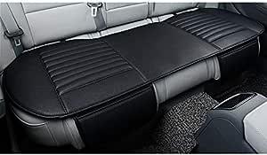 Honcenmax Auto Sitzbezug Kissen Pad Mat Atmungsaktiv Auto Seat Protector Auto Interior Autozubehör Pu Leder Bambuskohle 1 Paket Hintere Sitzabdeckung Auto