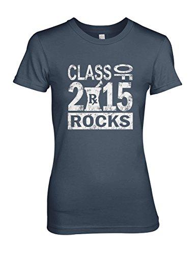 Class of 2015 Rocks Reunion School University Student Damen T-Shirt Marineblau Large Reunion Sweatshirt T-shirt