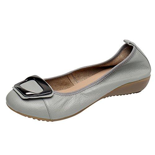 Jamron Mujer Piel Genuina Comodidad Zapatos