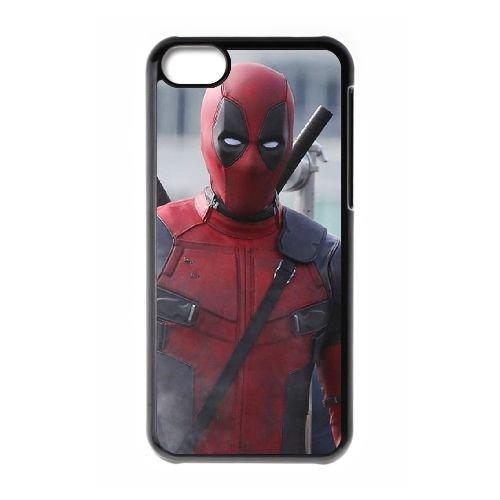 Deadpool coque iPhone 5C Housse téléphone Noir de couverture de cas coque EBDXJKNBO12290