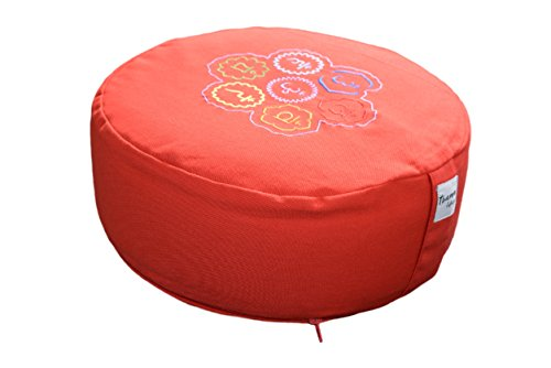 Lifestyle Tvamm Coussin rond de Meditation (Zafu), - rosso