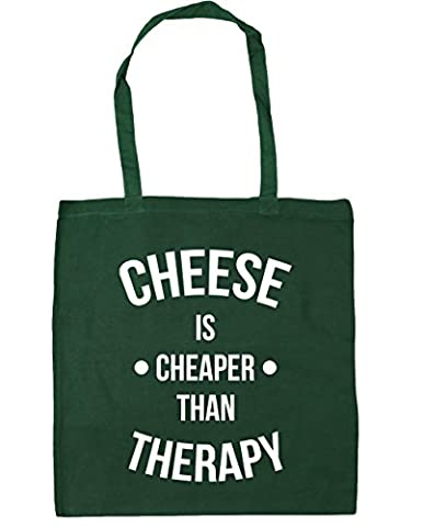 HippoWarehouse Cheese Is Cheaper Than Therapy Tote Shopping Gym Beach Bag 42cm x38cm, 10 litres