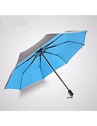 TBB-La sombrilla paraguas plegable Parasol protector solar,azul