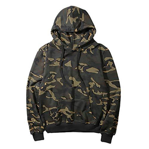 MCYs Herren Langarm Camouflage Hoodie Pullover Tops Bluse Outwear Cardigan Lässige Mantel Kapuzenpulli Langarmshirts Jacke Hooded Anzug Blazer Top