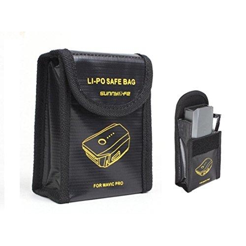 Hunpta Batterie Tasche Case Lagersicherheit für DJI Mavic Pro (Schwarz)