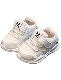 LanLan Zapatos de niños, Calzados/Zapatillas/Sandalias de niños Calzado Deportivo Transpirable Urltra-Light Unisex para niños Calzado Suave de Malla metálica