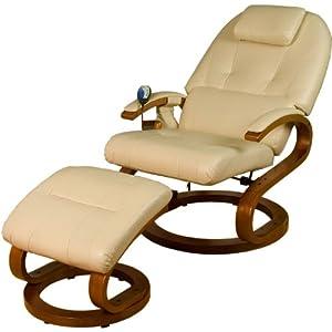 Stilista Massagesessel Fernseh Relax Tv Sessel Im S Design Heizfunktion Extra Dicke Polsterung Xxl Lehne Farbvarianten Creme Beigeschwarz