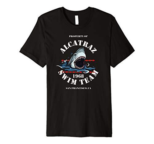 Alcatraz Swim Team Vintage Club T-shirt 1968 Great White - Swim-team T-shirts