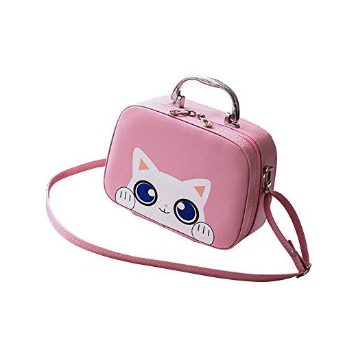 WTUS Damen Schöne Tragbare Multifunktionale Kosmetiktasche Aufbewahrungsbox Kosmetischen Hautpflege Beuteltote Pink