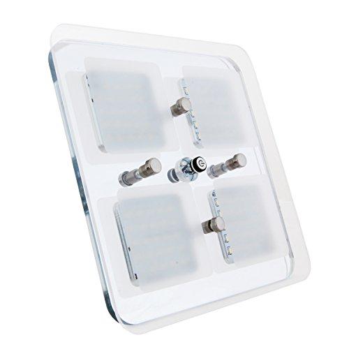 Dream Lighting 12V LED Lampen für Auto Wohnwagen Wohnmobil RV Boot Yacht Reisemobil Deckenlampe Downlight Wohnzimmerlampe Deckenleuchte Warmweiß Blau