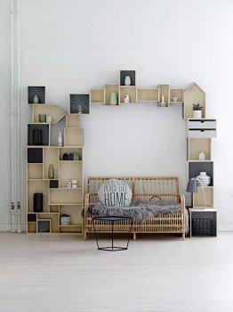 Bloomingville Storage Box 3 er Set Sechseck schwarz & natur - 2