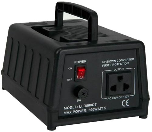 500 Watt Spannungswandler, 230/220V auf 110/120V