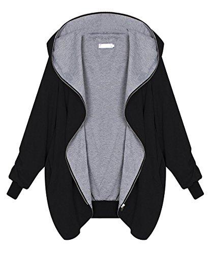 Lannister fashion donna cappotto con cappuccio invernali giacca hoodie elegante taglie forti sciolto cappotti e zip taglie forti giacche jacket trench autunno capispalla irregolare parka blazer
