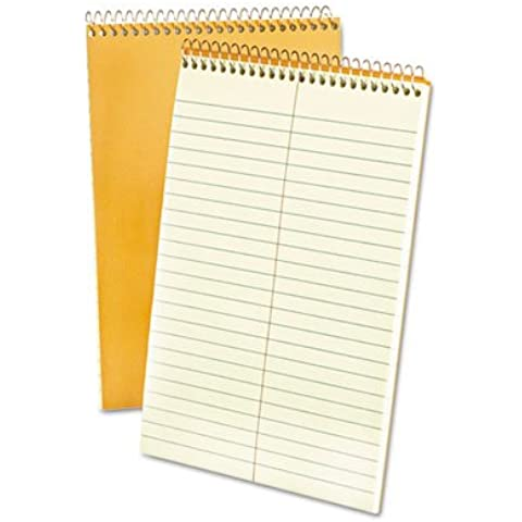 """Ampad - Steno Book, 15 lb., Gregg Ruled, 80 Sheets, 6""""x9"""", GN Tint, Sold as 1 Each, ESS25274"""