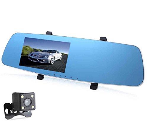 Auto-Schlag-Nocken-Doppelobjektiv FHD 1080P Rückspiegel-treibender Recorder 5,0 Zoll-Bildschirm, der Überwachung-Auto-Schlag-Nocken aufbaut errichtet im G-Sensor Bewegungserkennungs-Schleifen-Recorder (TF-Karte ist nicht eingeschlossen) ( Edition : Square waterproof camera )