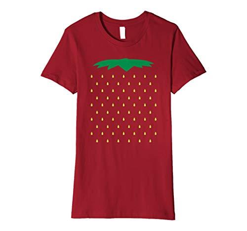 Erdbeere Kostüm T-Shirt Lustig Süß Halloween Karneval Shirt