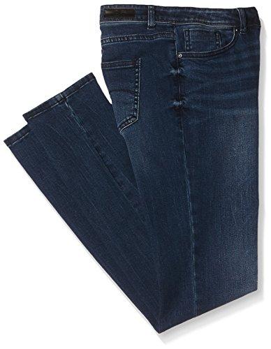 Q/S designed by 45.899.71.0415, Jeans Donna, Blau (Blue Denim, Heavy Stone w 57Z6), 40W x 32L