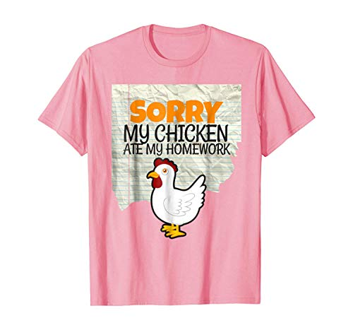 Shiyiqi3 Funny My Chicken Ate My Homework Kids Teacher School T-Shirt