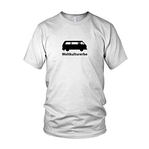 Weltkulturerbe Bulli T3 - Herren T-Shirt Weiß