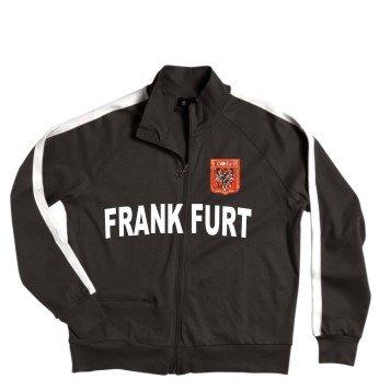 Francfort Veste à fermeture éclair avec armoiries brodé Taille S–XXL Rouge - Rouge