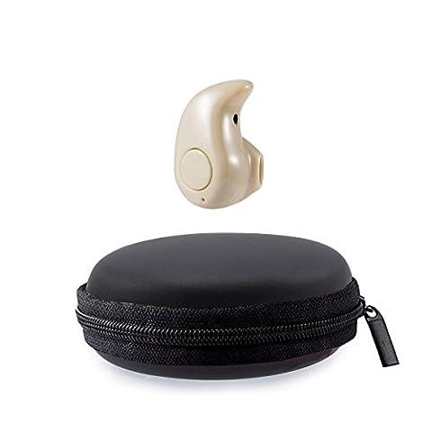 Magicmoon Mini S530 Kleinster 4.0 Stereo Bluetooth Earbuds Invisible Leichte drahtloser Kopfhörer Sport Kopfhörer Universal-Kopfhörer mit Mikrofon für iPhone Samsung Sony HTC LG Tablets Rauschunterdrückung (Gold)