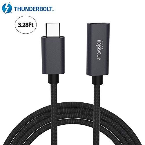 usb-c Verlängerung Kabel Stecker auf Buchse, amavasion USB C 3.1 Thunderbolt 3 Ladegerät, Audio/Video Daten Sync Extender Kabel für Mac, MacBook Pro, Nintendo Switch, Hub, Notebook (Macbook Pro Kabel Daten)