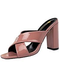 4c8dbf774ffb98 Amazon.fr : talon - Violet / Mules et sabots / Chaussures femme ...