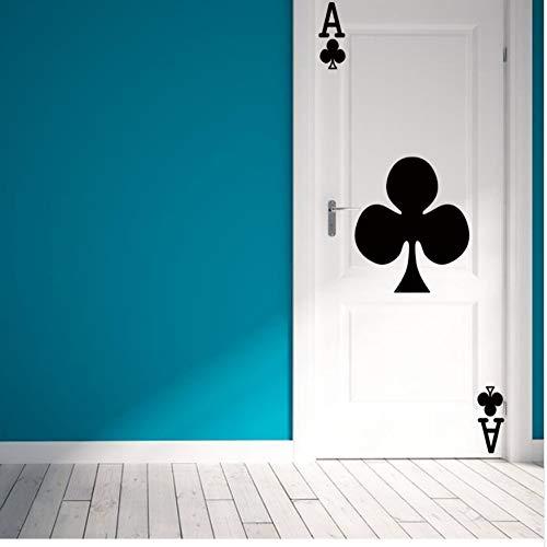Schwarze Pflaume Karten eines Stil-Zimmertür Aufkleber Art Deco Wandaufkleber 77x200Cm Türaufkleber