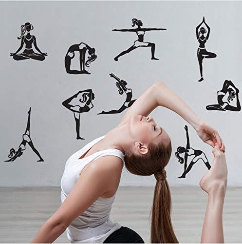 Wandsticker Mandala Yoga Meditation Symbol Wandtattoo Chakra Home Decor Wanddekoration Yoga Unterricht 1set Aufkleber