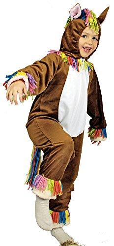 Tier Kostüm Pferd für Kinder Gr. 98 104 - Tolles Pferde Kostüm für Karneval, Kindergeburtstag und Mottopartys
