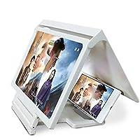 Mlec tech Amplificador de Video HD 3D Amplificador de Teléfono Inteligente, Pantalla de Video Móvil Lupa, Pantalla Lupa Portátil 3D Lupa para Ampliar 2~4 Veces en Pantalla del Teléfono