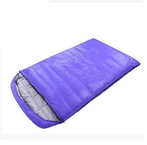 Daioy Schlafsäcke,Mumienschlafsäcke Hochwertiger Daunenschlafsack Für Erwachsene Im Freien, Ultraleicht Im Frühling Und Herbst Blau (190 + 30) * 120