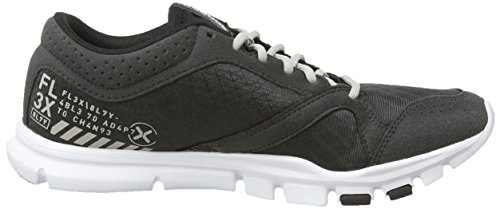 Reebok Yourflex Trainette 7.0, Chaussures de Fitness femme Gris (gravel/black/white/steel)