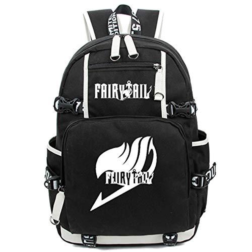 lay Noctilucence Rucksack Messenger Tasche Rucksack Schultasche schwarz Fairy Tail ()