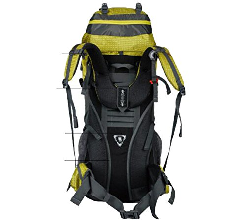 Outdoor Camping Bergsteigen Tasche 60L Rucksack Reise Large Capacity Nylon Rucksack,Yellow Yellow