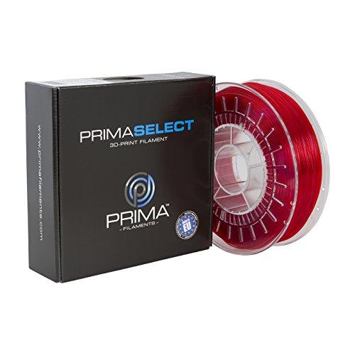 Prima Filaments PS de petg de 175–0750de TRD primas lect petg filamento, 1,75mm, 750g, transparente/rojo