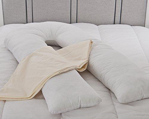 Oversize U Mutterschaft Schwangerschaft Kissen mit abnehmbaren Bezug --Körper Kissen von Lancashire Betten