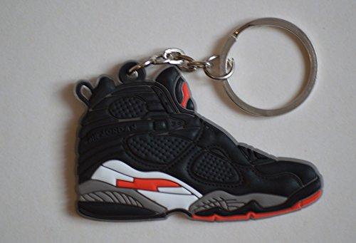 Air Jordan 8 VIII Schlüsselanhänger Playoffs Sneaker Keychain Schwarz (Jordan Playoff 8)