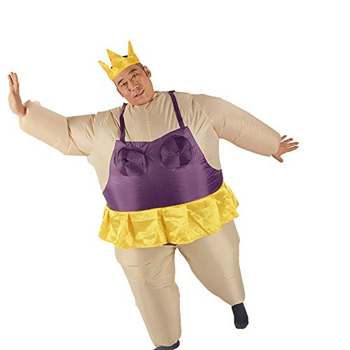 sakj-da KostümstützenChristmas Dance Kostüm Ballett Sumo Leistung Aufblasbare Kostüm Cartoon Puppe Tanz Adult, Violett, 150-190 cm