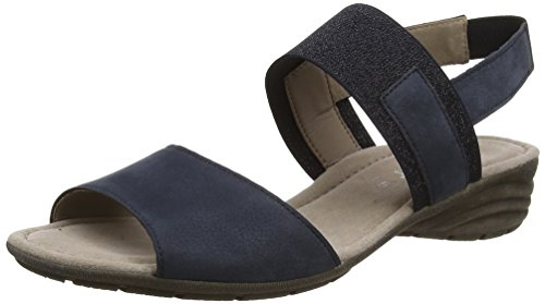 Gabor Fashion, Sandali con Zeppa Donna Blu (nightblue 16)